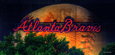 The Big Ball Atlanta Braves Baseball Signage Art Art Print