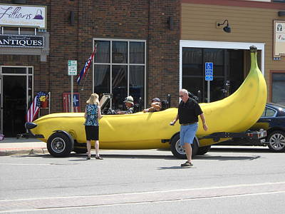 Photograph - The Big Banana Car Stops By by Kent Lorentzen