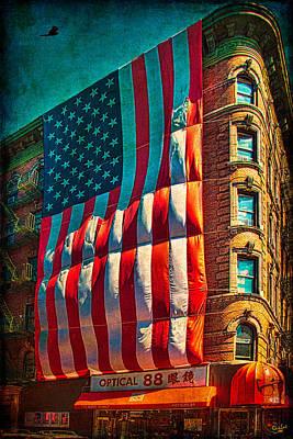 Photograph - The Big Big Flag by Chris Lord