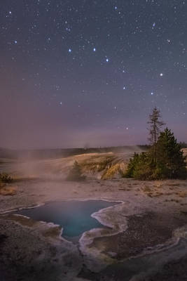 Photograph - The Big Dipper In Yellowstone National Park by Alex Conu