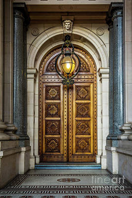 Photograph - The Big Doors by Perry Webster