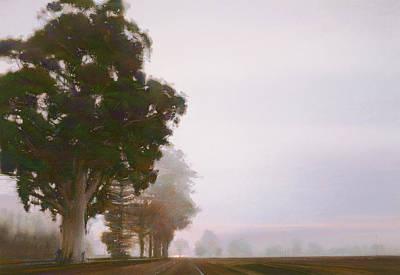 Napa Drawing - The Big Eucalyptus by Steven Gordon
