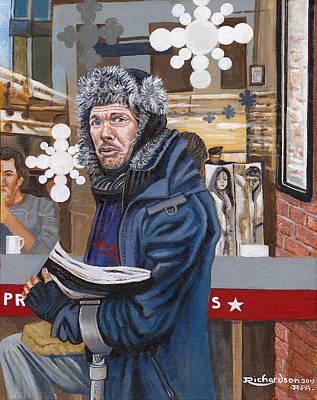 Crutch Painting - The Big Issue by James Richardson