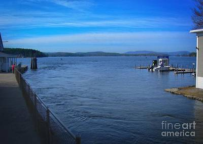 Blue Highway Photograph - The Big Lake by Skip Willits