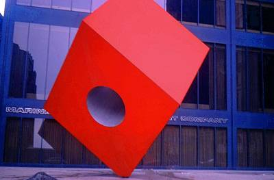 Photograph - The Big Red Cube by John Schneider