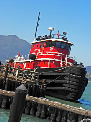 Photograph - The Big Red Tug by Elizabeth Hoskinson