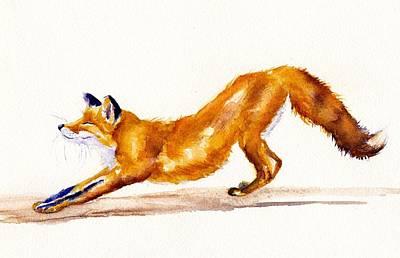 Vixen Painting - The Big Stretch by Debra Hall