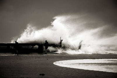 Of Hurricanes Photograph - The Big Surge by Susanne Van Hulst