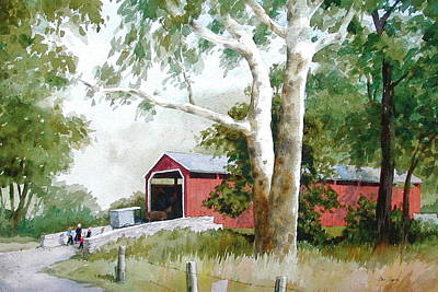 The Big Sycamores Art Print by Faye Ziegler