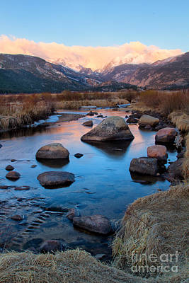 The Big Thompson River Flows Through Rocky Mountain National Par Art Print