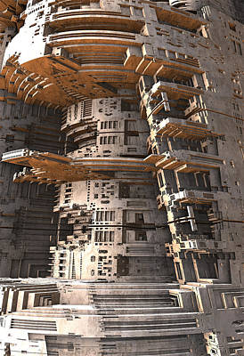 Digital Art - The Big Tower by Hal Tenny