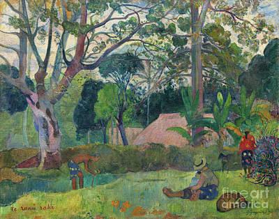 Painting - The Big Tree  Te Raau Rahi by Paul Gauguin