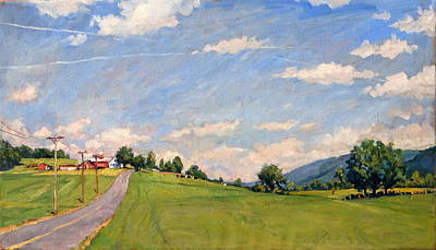 Abstract Realist Landscape Painting - The Big View Berkshires by Thor Wickstrom