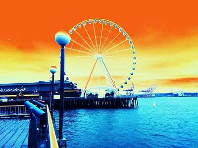 Photograph - The Big Wheel by Eddie G