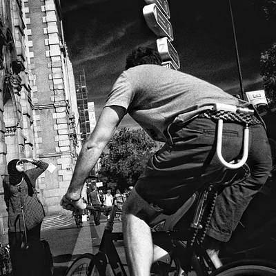 Cycling Photograph - The Biggest Cyclist Ever  #people by Rafa Rivas