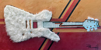 Painting - The Biggest Little Guitar In Texas by Sean Parnell