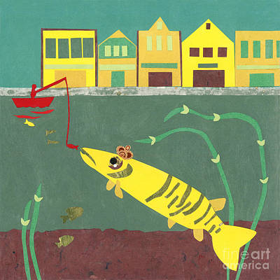 The Biggest Musky Art Print by Laura Lynne