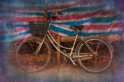 The Bike And Basket Art Print by Nichon Thorstrom