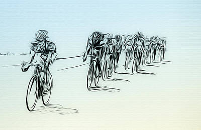 Bike Races Photograph - The Bike Race by Bill Cannon