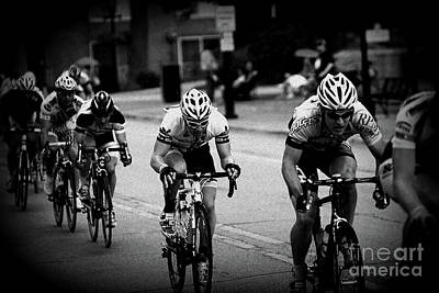 Frank J Casella Royalty-Free and Rights-Managed Images - The Bike Race - Black and White by Frank J Casella