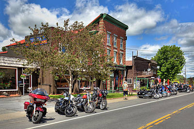 Photograph - The Bikes And Brews Event In Old Forge by David Patterson