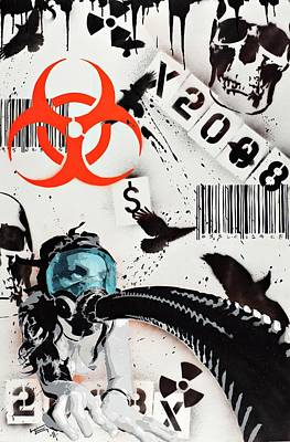 The Biohazard Bargain Barcode Art Print by Tai Taeoalii