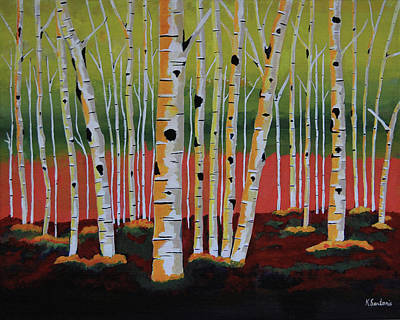 The Birch Forest - Landscape Painting Art Print