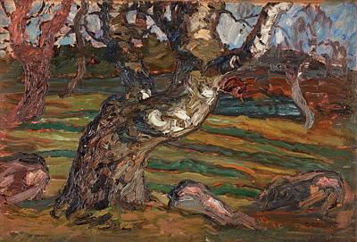 Birch Painting - The Birch by Helmer Osslund