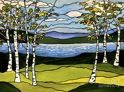 Painting - The Birches  by Elizabeth Robinette Tyndall