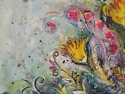 The Bird And The Bees Art Print by Amanda  Sanford