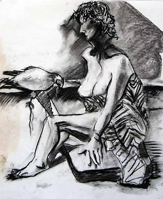 Brad Wilson Drawing - The Bird by Brad Wilson