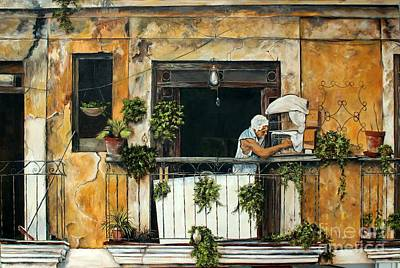 Painting - The Bird Cage, Cuba by Anna-maria Dickinson