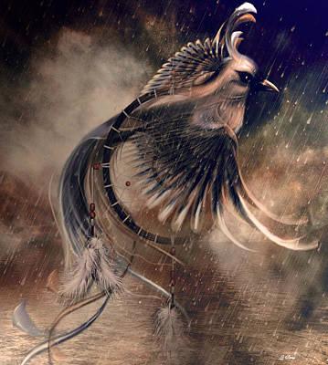 Storytellers Wall Art - Photograph - The Bird Of Paradise Dreamcatcher by G Berry