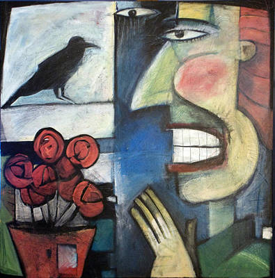 Eyes Painting - The Bird Watcher by Tim Nyberg