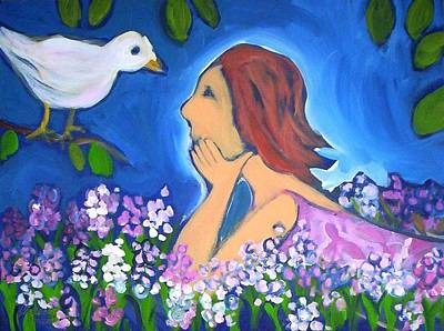 Painting - The Bird by Winsome Gunning