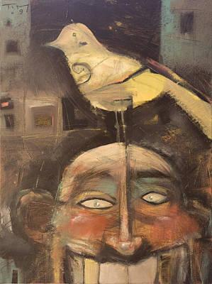 Alcatraz Painting - The Birdman Of Alcatraz by Tim Nyberg