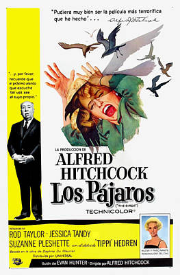 1960s Poster Art Photograph - The Birds, Aka Los Pajaros, Alfred by Everett