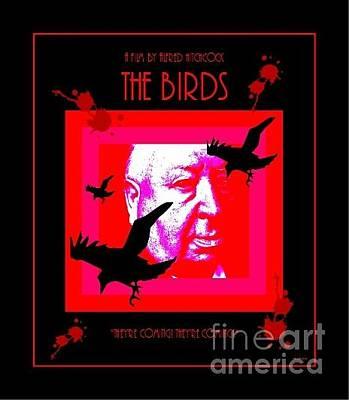 Digital Art - The Birds Alfred Hitchcock by Peter Gumaer Ogden