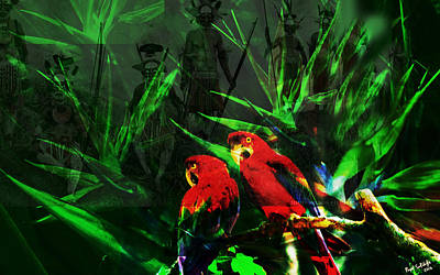 The Birds In Paradise  Original by Paul Sutcliffe