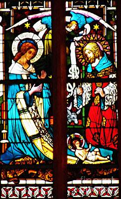 Photograph - The Birth Of Christ In Stained Glass by Sarah Loft