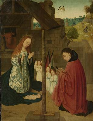 Joseph And The Angel Painting - The Birth Of Christ Master Of The Bruns Wijkse Diptych Ca 1490   Ca  1500 by R Muirhead Art