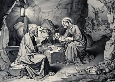 Photograph - The Birth Of Christ by Munir Alawi