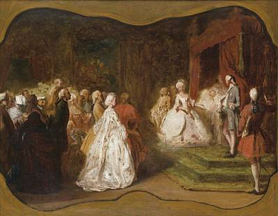 Painting - The Birth Of Louis-philippe by Attributed to Eugene Isabey