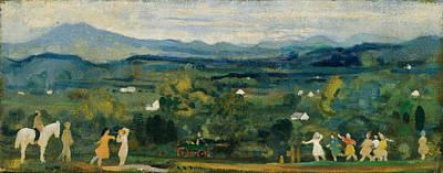 Arthur Bowen Davies Painting - The Birth Of The Green by Arthur Bowen Davies