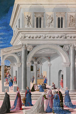 Carnevale Painting - The Birth Of The Virgin, 1467 by Fra Carnevale