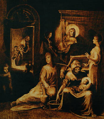 Custom Reproduction Pyrography - The Birth Of The Virgin by Dino Muradian