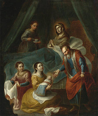 Painting - The Birth Of The Virgin by Miguel Cabrera