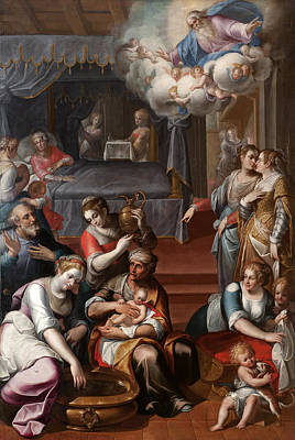 Painting - The Birth Of The Virgin by Paolo Camillo Landriani
