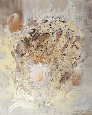 Painting - The Birth Of Universe Abstract by Anna Skorko
