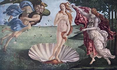 Goddess Mythology Drawing - The Birth Of Venus By Sandro by Vintage Design Pics
